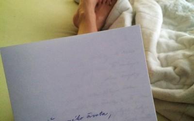 On písal mne, ja zase píšem Vám…